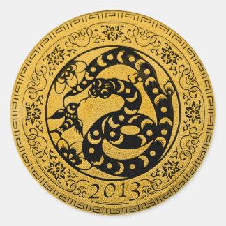 2013 años de serpiente pegatinas redondas