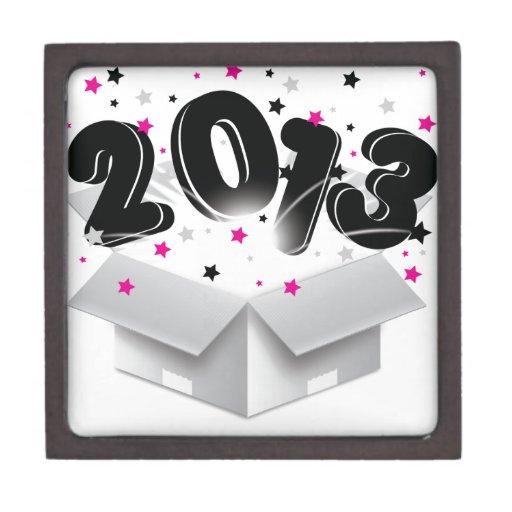 2013 Años Nuevos de la caja abierta que estallan Cajas De Recuerdo De Calidad