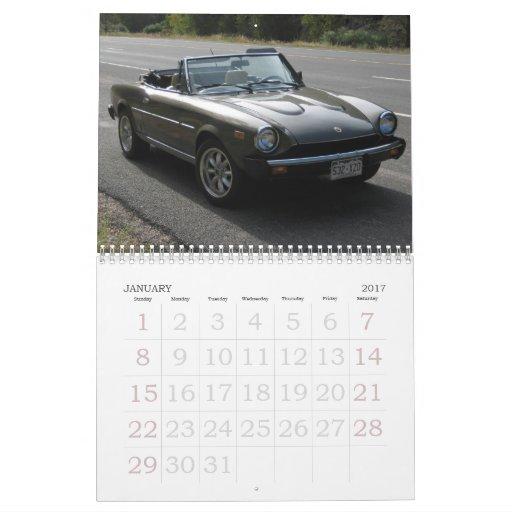 2013 araña de Fiat 124 del calendario