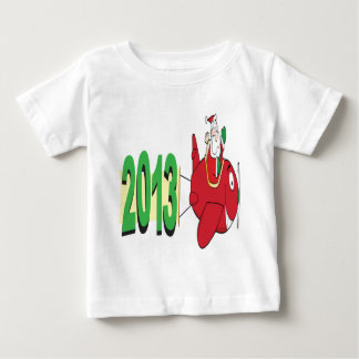 2013 banner pulled by Santa Claus Baby T-Shirt