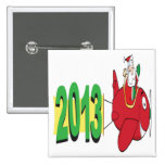 2013 banner pulled by Santa Claus Pins