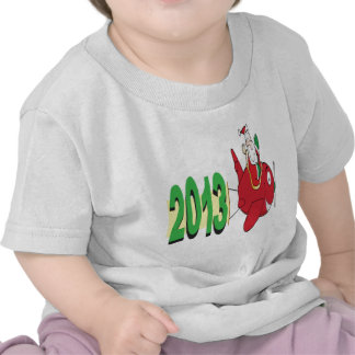 2013 banner pulled by Santa Claus Shirts