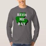 2013 Beer Me Day Green Shamrock Gray LS T-shirt