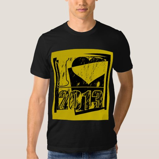 2013 - Black and yellow vintage - T-Shirt