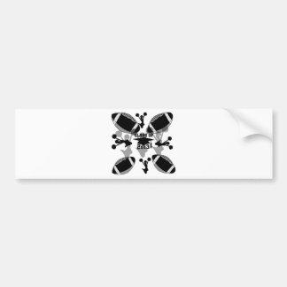 2013 Black Football black gray Bumper Sticker