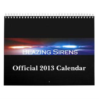 2013 Blazing Sirens Calendar
