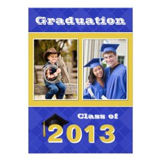 2013 Blue and Gold Argyle Graduation