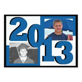 2013 Blue Block Grad Photo Card