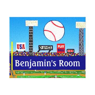 2013 Boy's Room Personalized Baseball Art Print Canvas Print