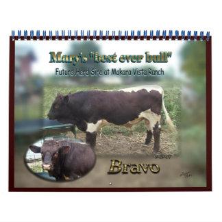 2013 Bravo Bull Calendar-Special order-changes N/A Calendar