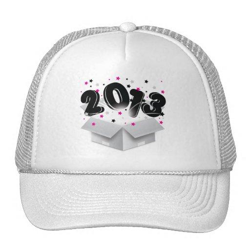 2013 bursting open box new year hats