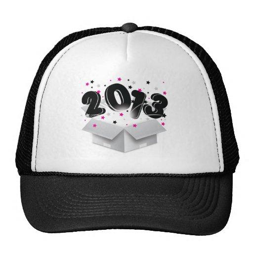 2013 bursting open box new year mesh hats