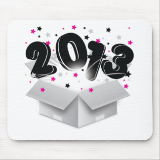 2013 bursting open box new year mouse pad