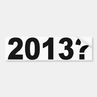 ¿2013? PEGATINA DE PARACHOQUE