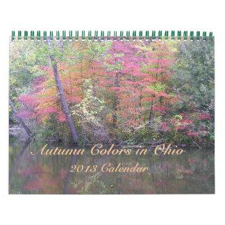 """2013 Calendar, """"Autumn Colors In Ohio"""""""