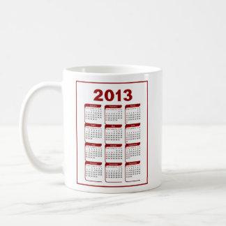 2013 Calendar Baseball Classic White Coffee Mug