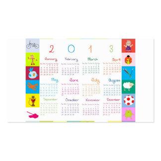2013 Calendar Business Card
