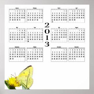 2013 Calendar - Butterfly Poster