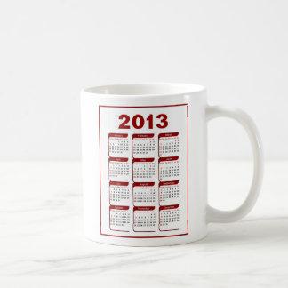 2013 Calendar Coffee Mug