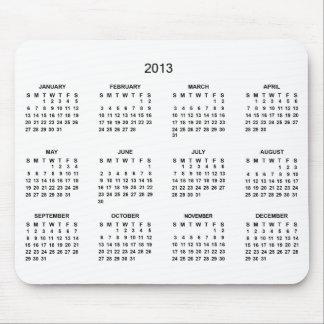2013 Calendar Desk Mouse Pad