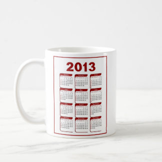 2013 Calendar dragon Classic White Coffee Mug