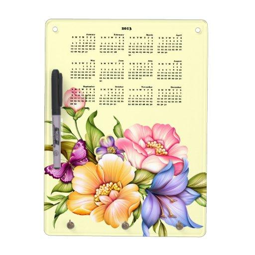 2013 Calendar Dry Erase Board