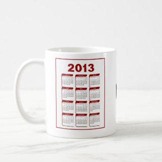 2013 Calendar Golf Coffee Mug