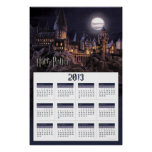 2013 Calendar Hogwarts Boats To Castle Posters