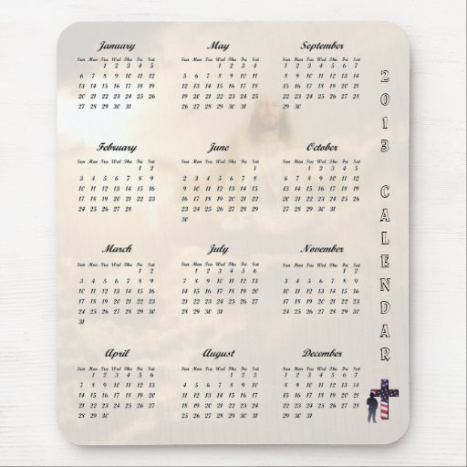 2013 Calendar Jesus Christ and American Soldier II Mousepads