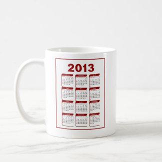 2013 Calendar Classic White Coffee Mug