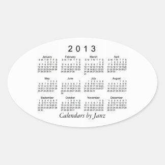 2013 Calendar Oval Sticker