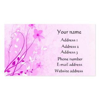 2013 Calendar Pink Floral business cards.. Business Card