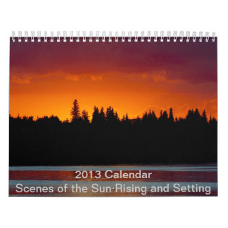 2013 Calendar - Setting and Rising Sun