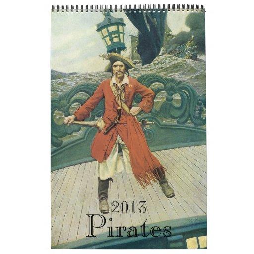 2013 Calendar, Vintage Pirates!