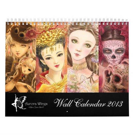 2013 calendario de la fantasía - arte de Mitzi Sat