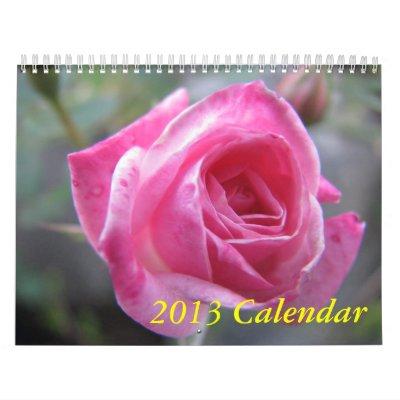 2013 calendario - flores