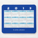 2013 calendario Mousepad Alfombrilla De Ratones