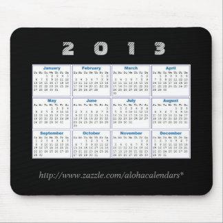 2013 calendario Mousepad Tapetes De Raton