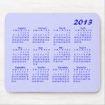 2013 calendario Mousepad Tapetes De Ratones