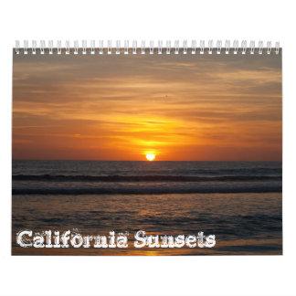 2013 calendario - puestas del sol de California