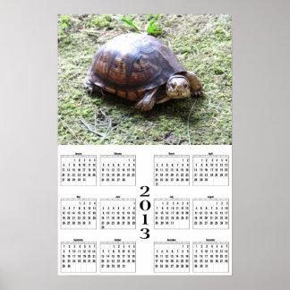 2013 calendario - tortuga en musgo impresiones