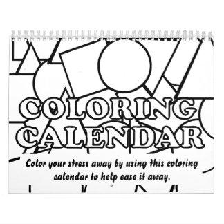 2013 calendarios que colorean