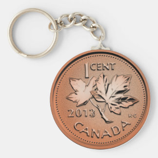 2013 Canadian penny Basic Round Button Keychain