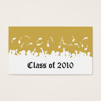 2013 Cap & Gown Graduation Status Card (gold)