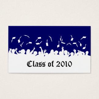 2013 Cap & Gown Graduation Status Card (navy)