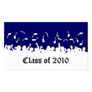 2013 Cap & Gown Graduation Status Card (navy) Business Cards