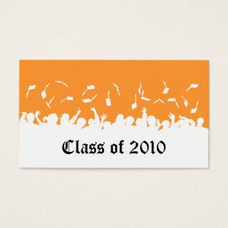 2013 Cap & Gown Graduation Status Card (orange)