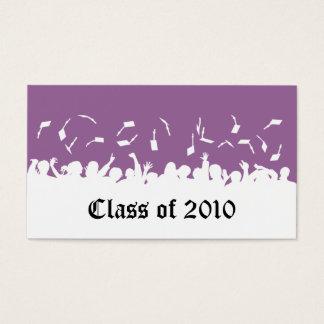 2013 Cap & Gown Graduation Status Card (purple)