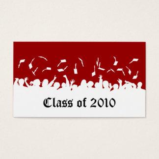 2013 Cap & Gown Graduation Status Card (red)