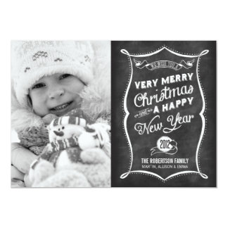 2013 CARD LINK BELOW | Chalkboard 2012 Christmas Personalized Invites